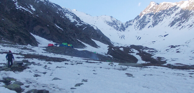 Sach Pass Trek Route